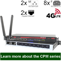 CPM-Serie: Konsolenserver + Power Control (+ATS) with 4G LTE Modem Option