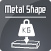 logo planet metal shape