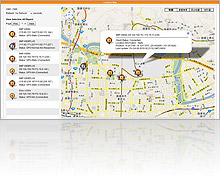 digital signage server cms v82 google map