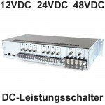 DC Power Switches: Leistungsschalter für Gleichstom Equipment mit 12VDC, 24VDC oder 48VDC (DC Power Switched PDUs)