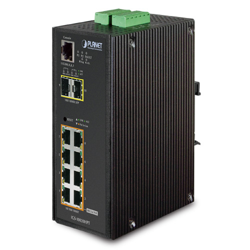 IGS-10020 8-Port Gigabit / 2 SFP Port Industrial Ethernet Switch