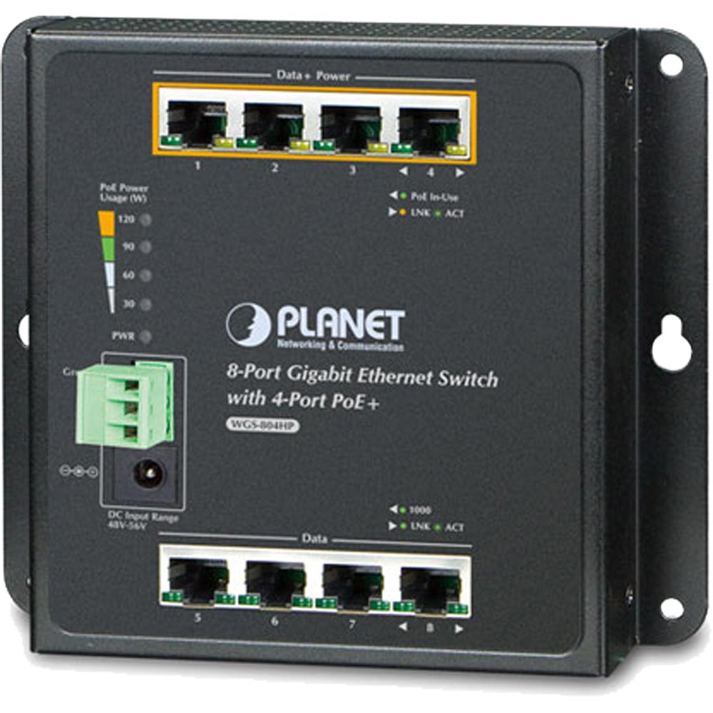 wgs 804hp 8 port gigabit ethernet switch 4x poe funktion. Black Bedroom Furniture Sets. Home Design Ideas