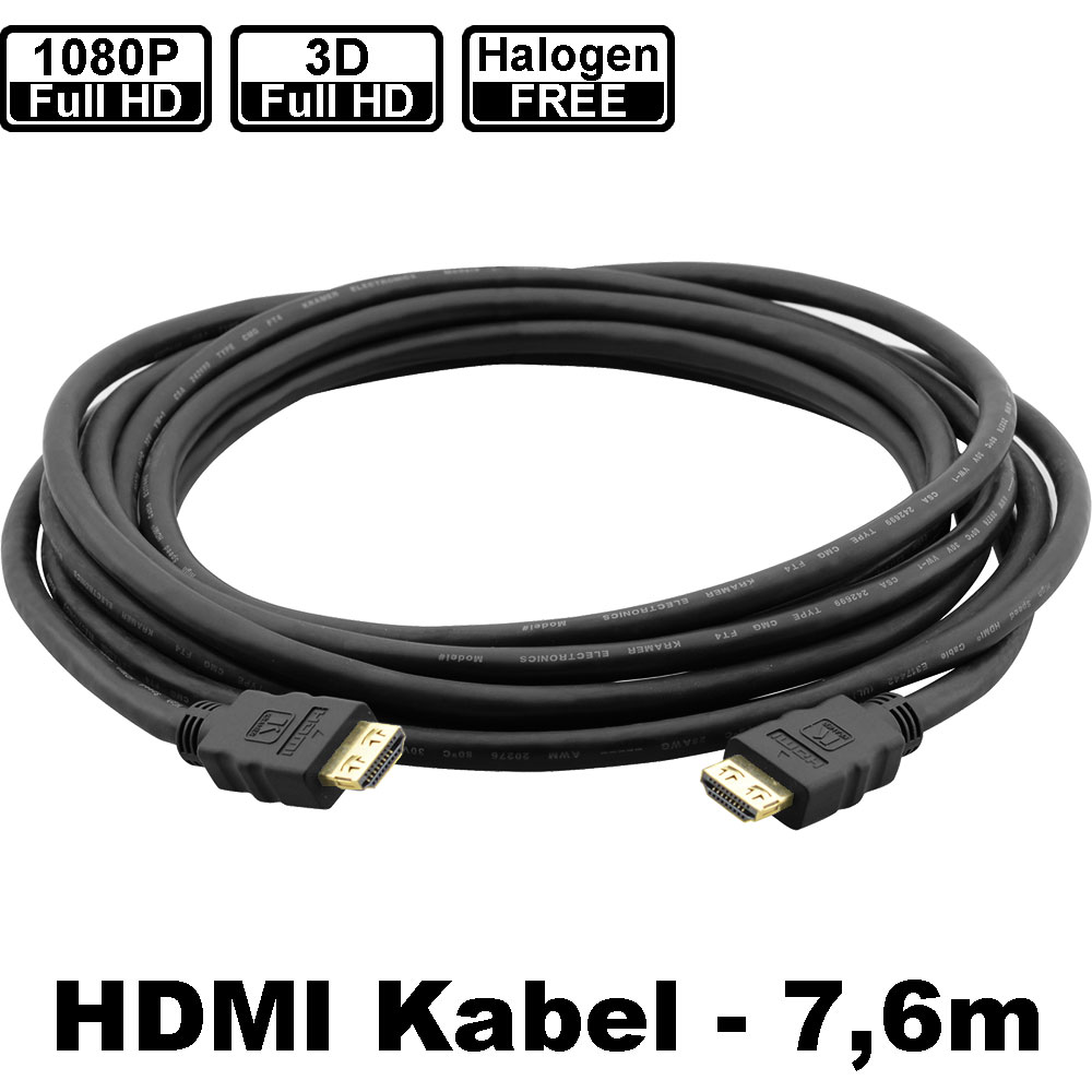 DVI / HDMI / Display Port : Kramer CLS-HM/HM/ETH-25 | HDMI-Kabel mit ...