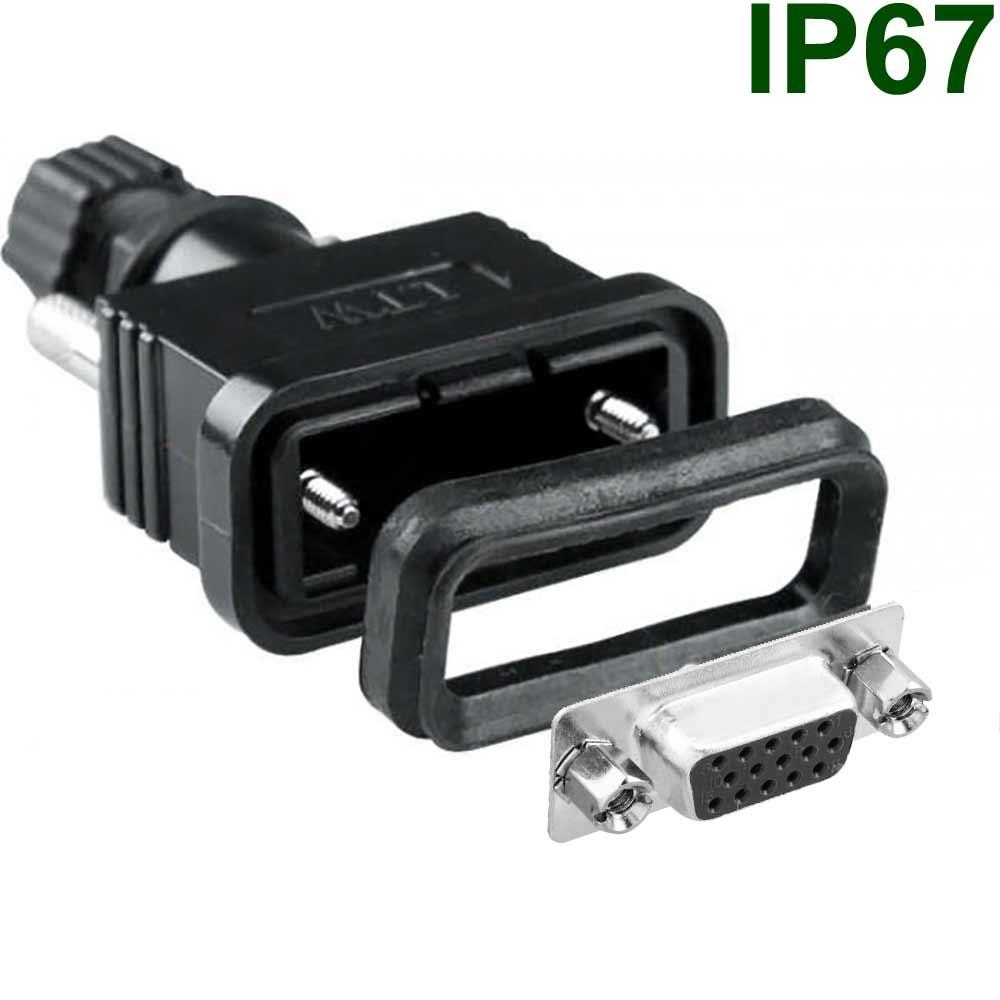 Wasserdichte DSub/VGA-Steckverbinder