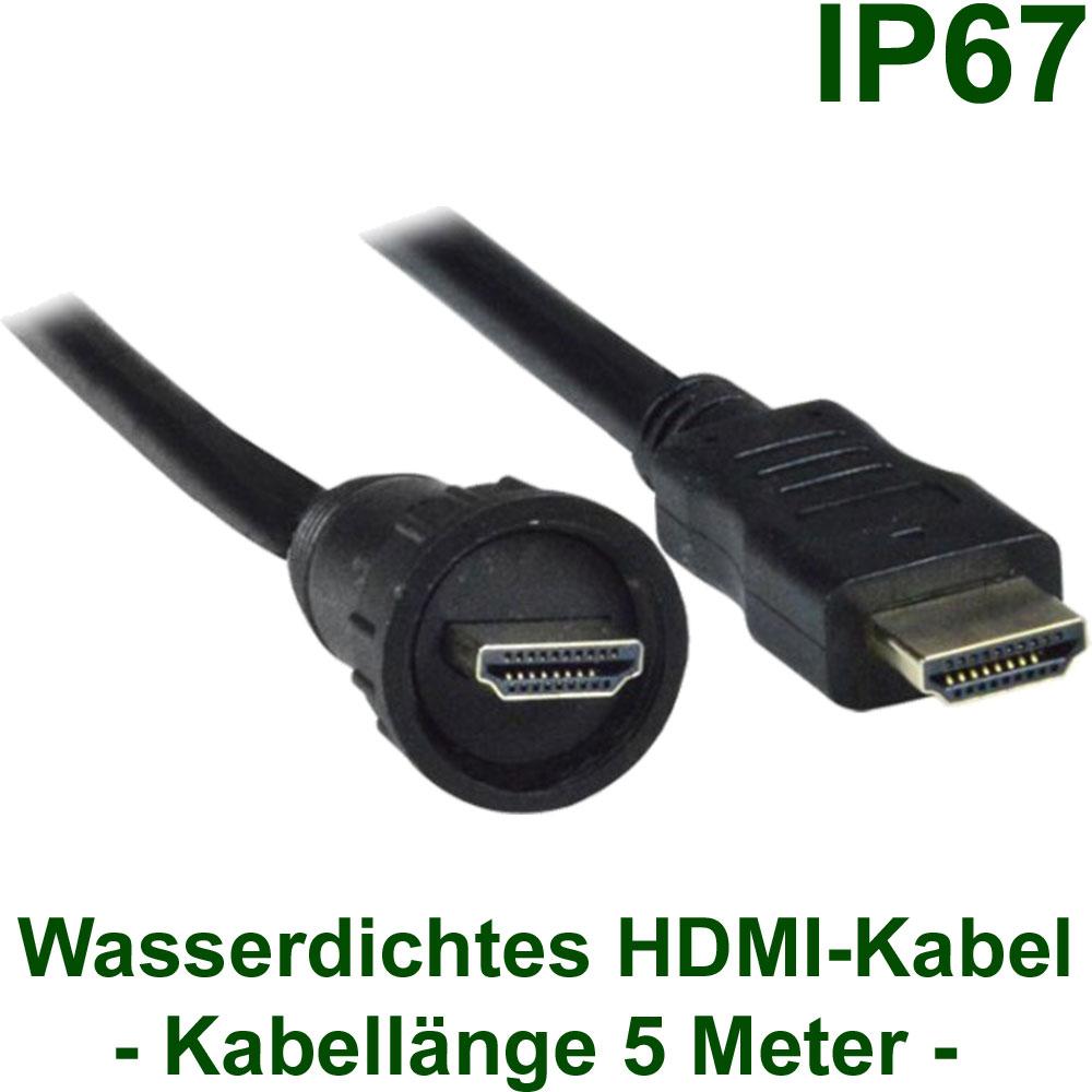 DVI / HDMI / Display Port : Wasserdichte HDMI-Kabel (5m ...