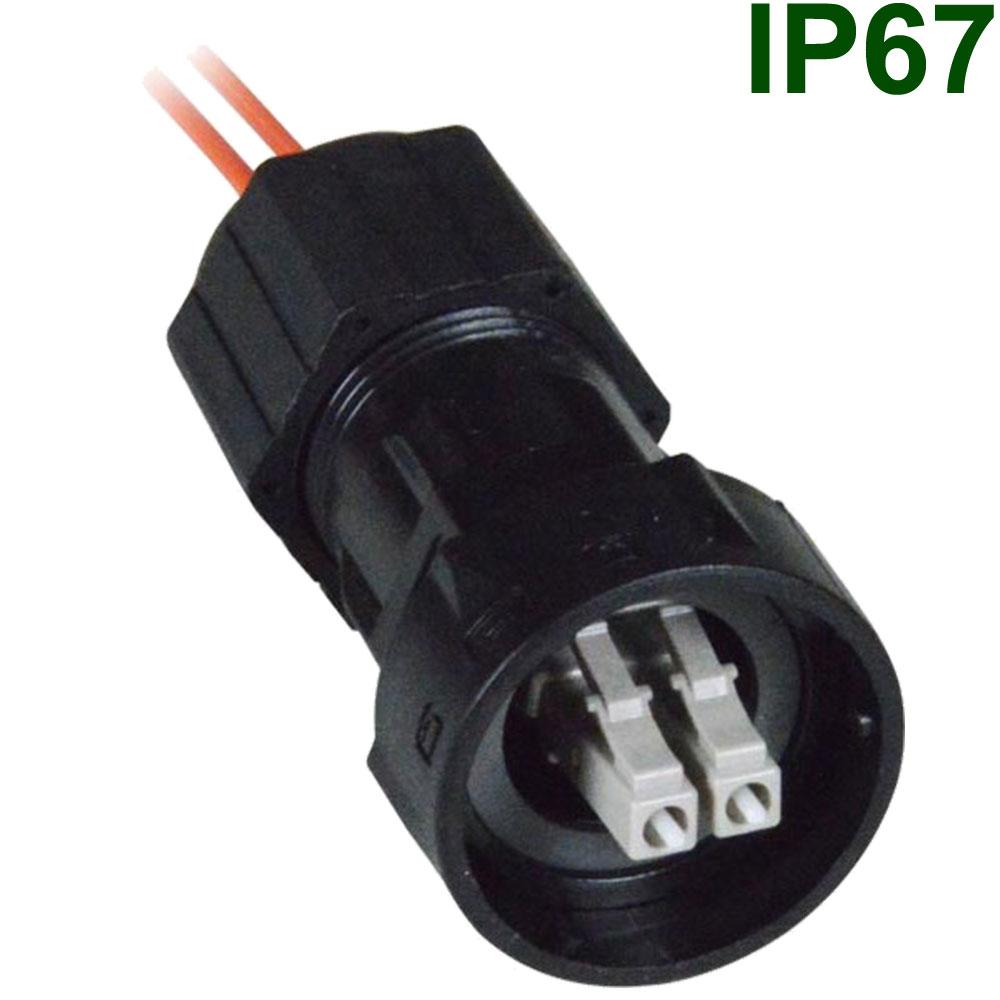 Glasfaserkabel : Wasserdichte Kabelverschraubung (IP67) für Duplex ...