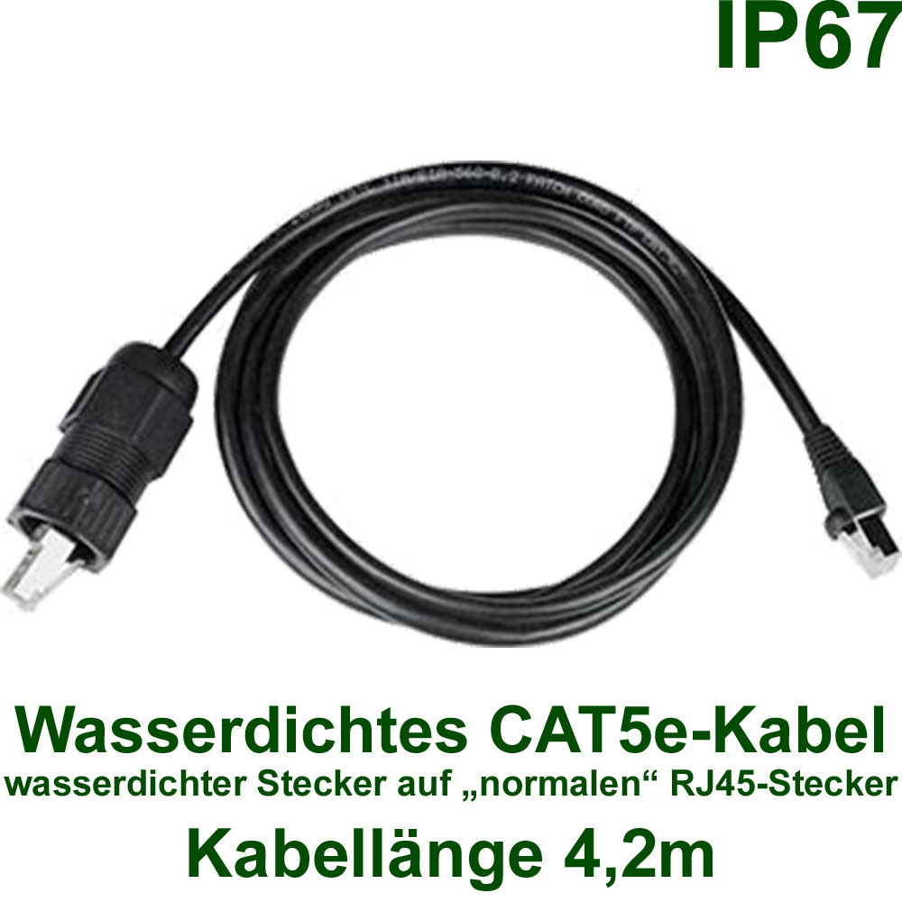 Wasserdichte CAT5e Kabel