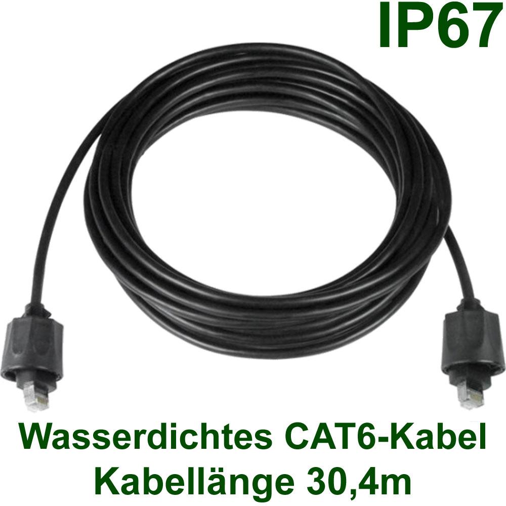 netzwerk kabel wasserdichtes geschirmtes cat6 kabel 30 4m ip67. Black Bedroom Furniture Sets. Home Design Ideas