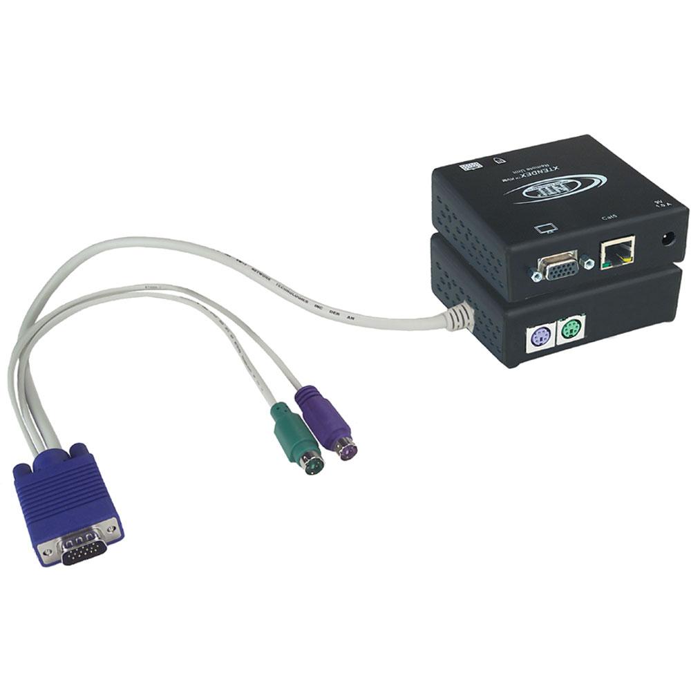 KVM : PS/2 u. VGA KVM Extender via CAT ST-C5KVM-600 von NTI