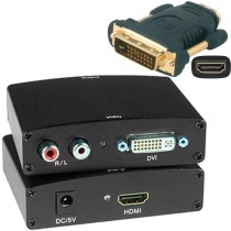 HDMI Analog Audio Embedder (inkl. HDMI<->DVI Adapter)