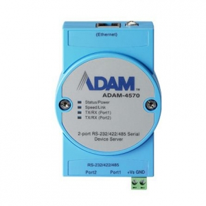 ADVANTECH ADAM-4570:  2-Port Ethernet RS232/422/485 Device Server