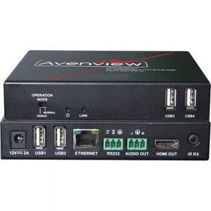 AVENVIEW HDM-C6VWIP-R: HDMI-Receiver des HDMI over IP / LAN  Extender, Videowall und Matrix-Switch-Systems mit IR, RS232, Audio und KVM-Funktion.