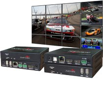 AVENVIEW HDM-C6VWIP-SET: HDMI over IP / LAN  Extender, Videowall und Matrix-Switch mit IR, RS232, Audio und KVM-Funktion