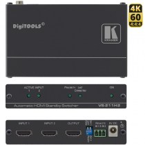 Kramer VS-211H2: 4K @60 UHD (4:4:4) Automatic HDMI Standby Switcher