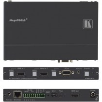 Kramer DIP-30: 4K UHD HDMI/VGA Umschalter & Step-In Steuermodul, mit Ethernet, bidirekt. RS−232, IR & Stereo Audio
