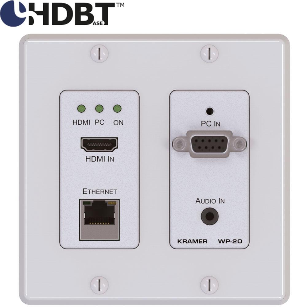 Kramer Wp 20 Aktives Wandanschlussfeld Fr 4k Hdmi Vga Kabel Converter To Plus Audio With Hd Ultra Mit Hdbaset Bertrager