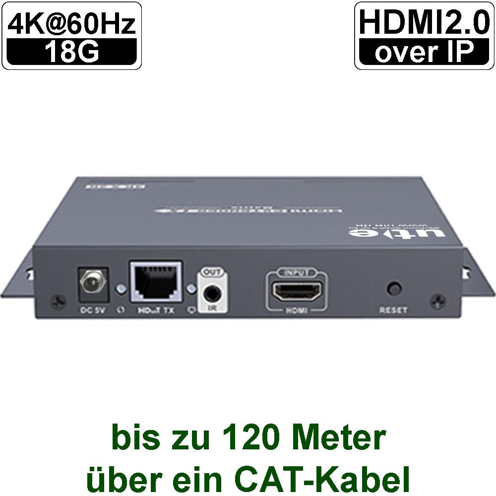 videotechnik 4k60 hdmi2 0 over ip matrix extender set uh 393m ip. Black Bedroom Furniture Sets. Home Design Ideas