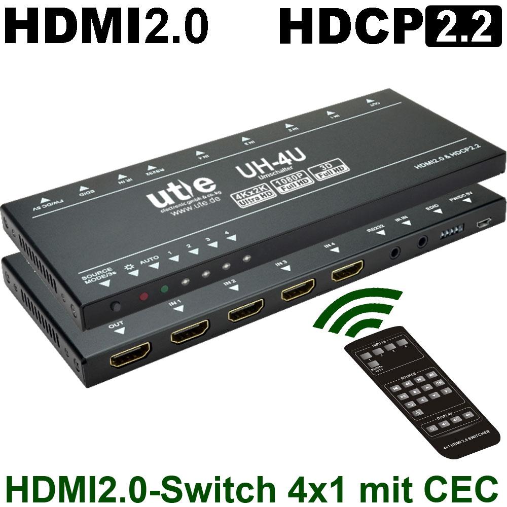 Professionelle HDMI & DVI Umschalter bis 4K60 4:4:4 HDR