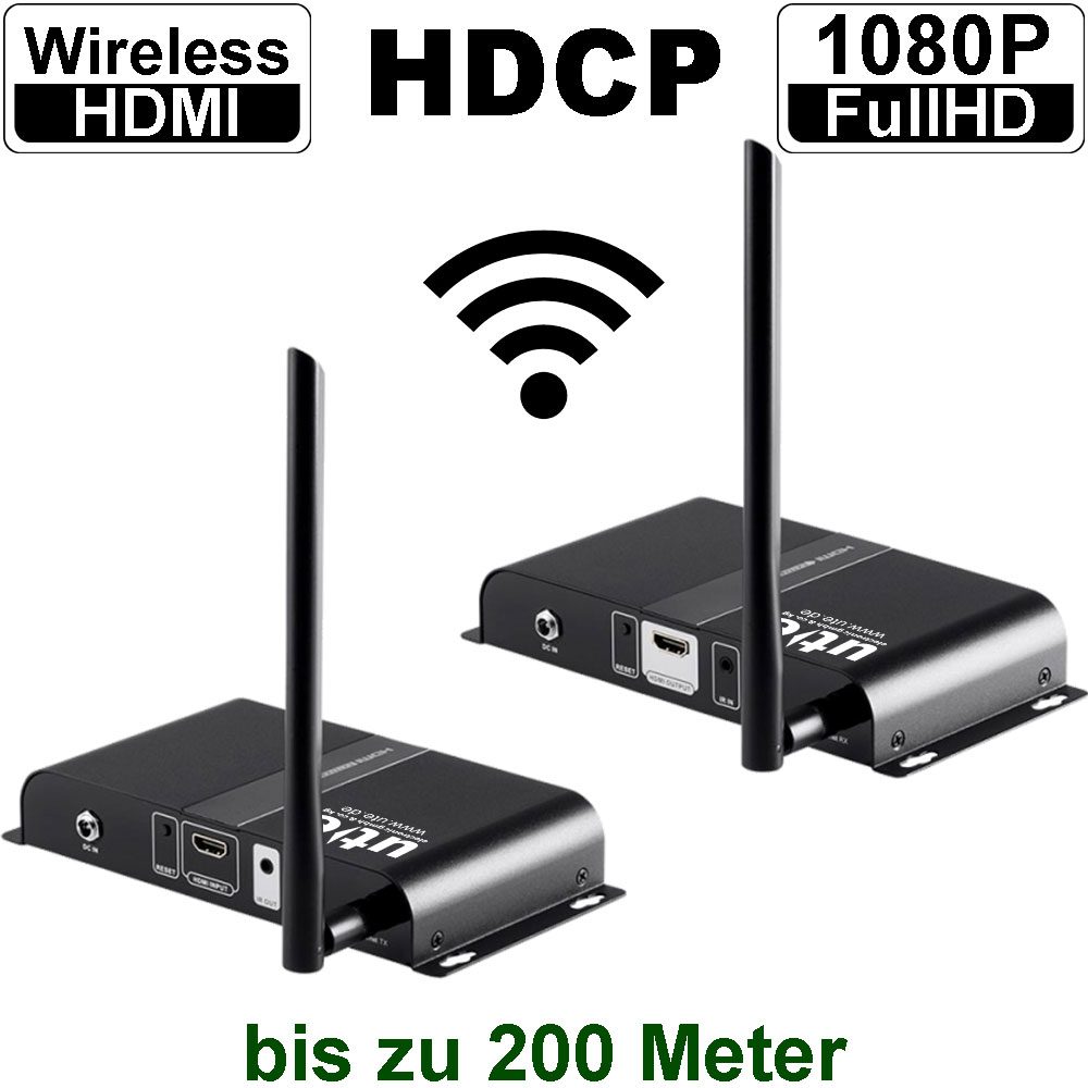 Dvi  Hdmi Verl U00e4ngerungen   Wireless Hdmi Extender  200m