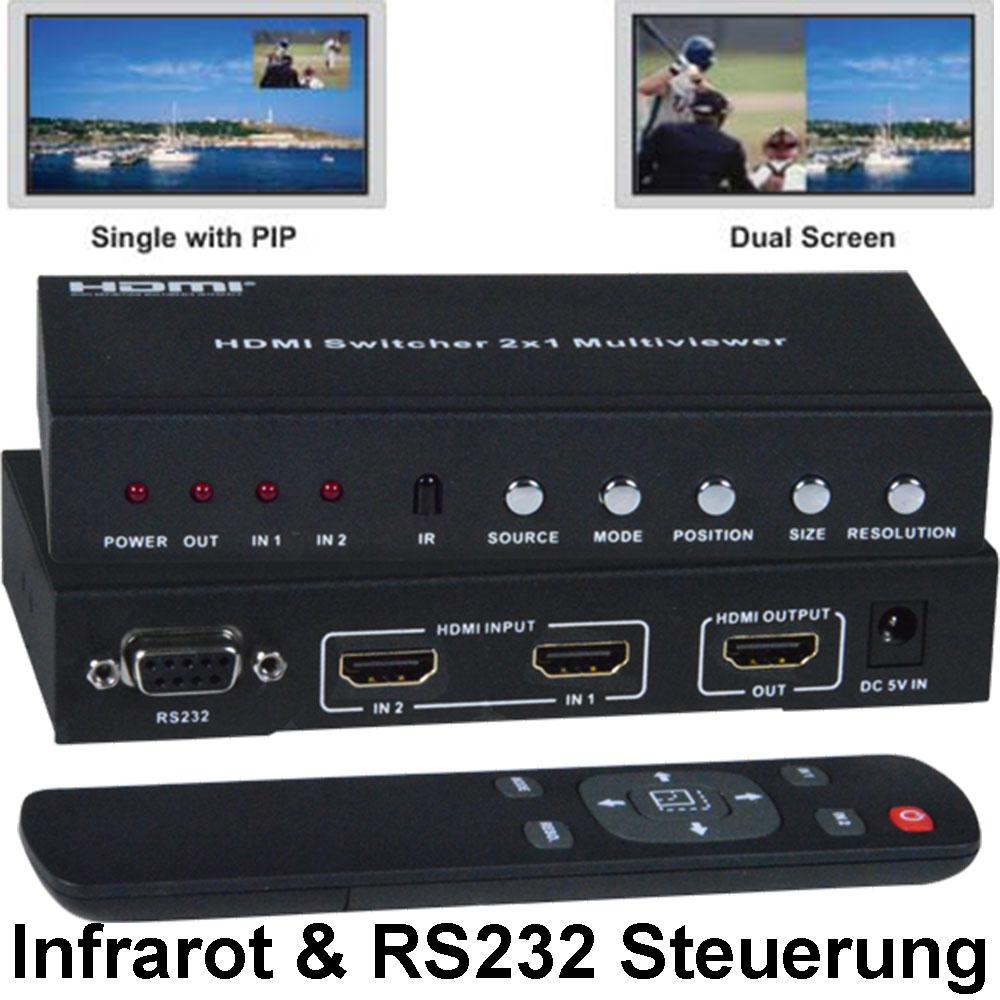 HDMI Dual Screen Multiviewer SPLITMUX-HD-2RSLC von NTI